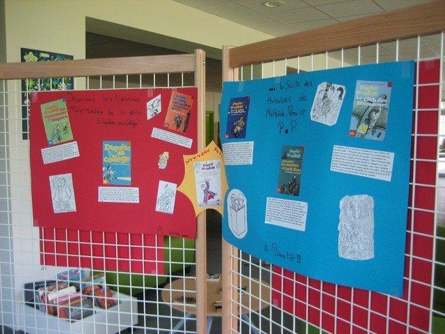 L'exposition : Un livre à gagner !  dans Enquête au collège IMG_5233
